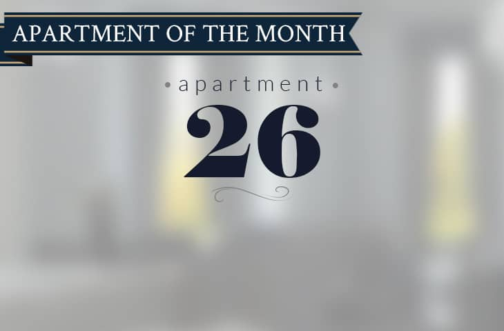 Apartment 26 - apartment of the month.