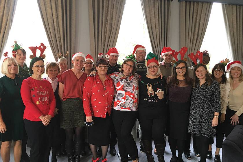 Sanctuary Group's choir getting in the festive spirit