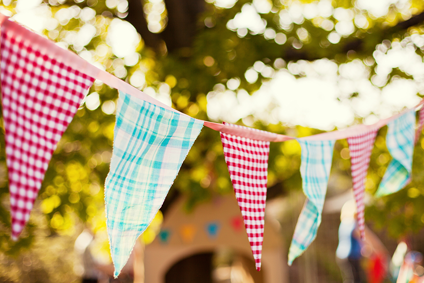 Bunting at a Summer Fete