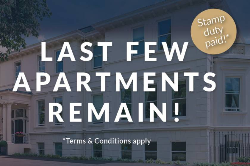 Last few apartments remaining at New Court.