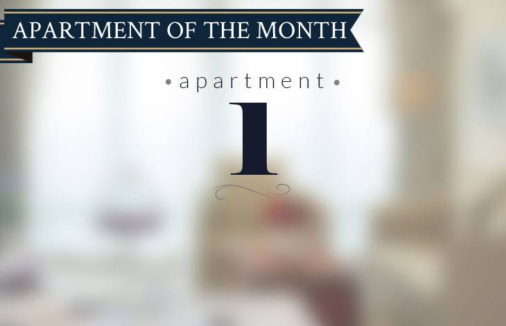 Apartment 1 is the apartment of the month