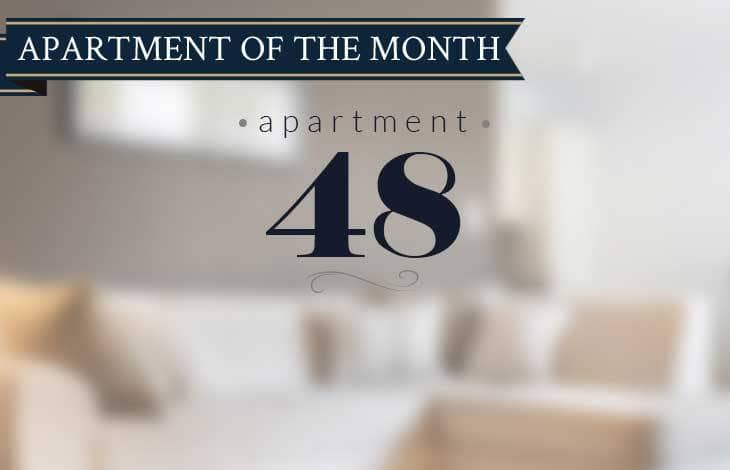 Apartment 48 is our Apartment of the Month