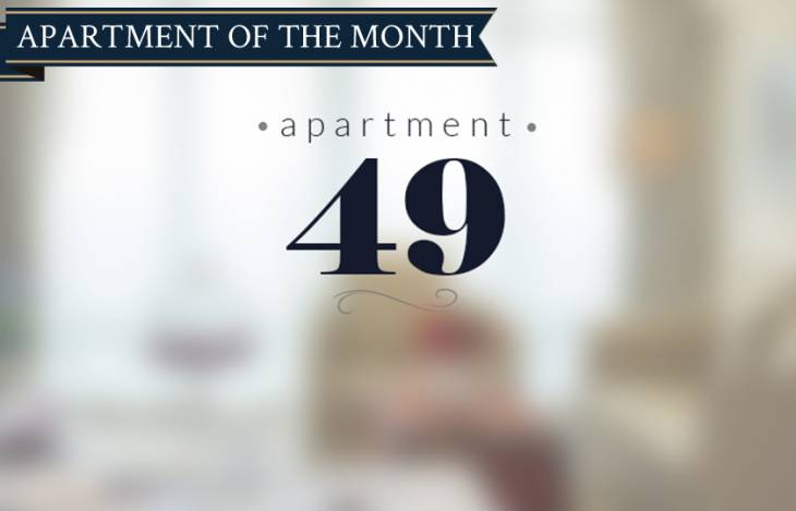 Apartment 49 apartment of the month banner
