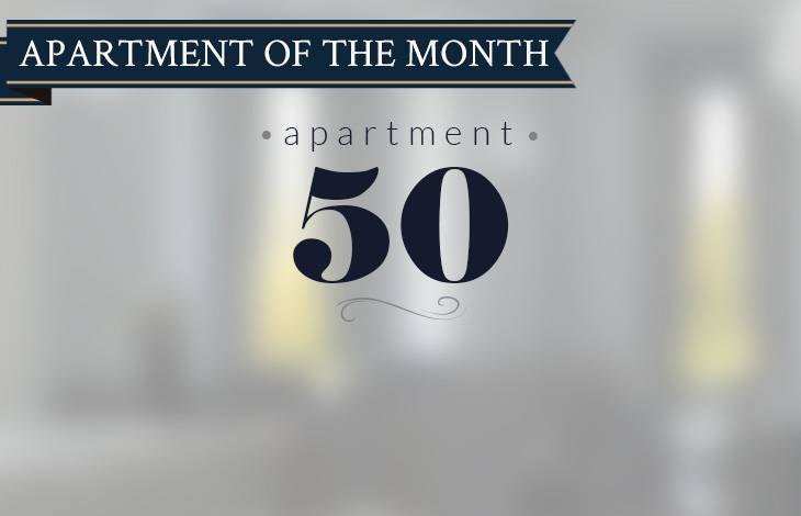 Apartment 50 - Apartment of the month