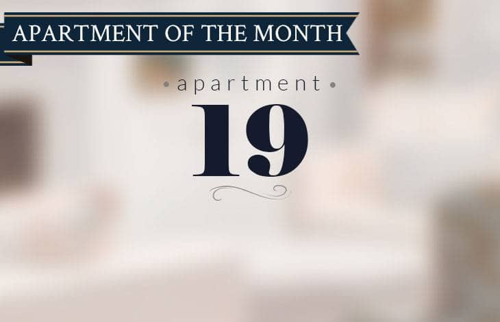 apartment 19 is our apartment of the month for July