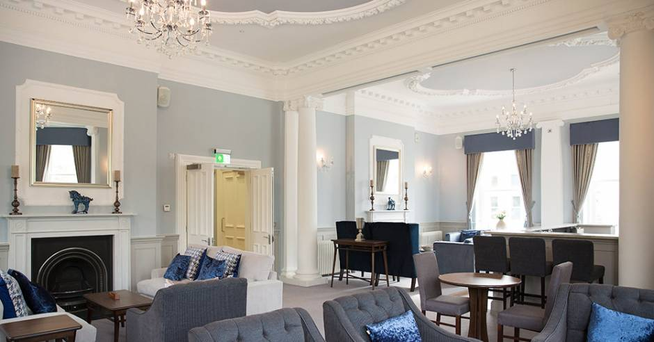 The sumptuous owners lounge at New Court